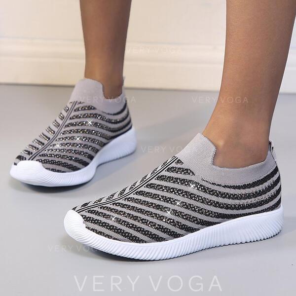 Mulheres Pano Malha Outdoor Atlético com Lantejoulas sapatos