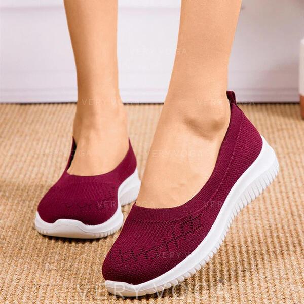 Mulheres Pano Casual Outdoor com Oca-out sapatos