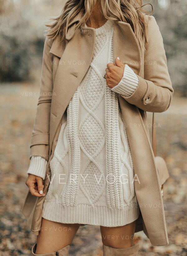 Jednolity Kerek nyak Hétköznapokra πουλόβερ
