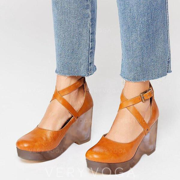 Vrouwen PU Stiletto Heel Sandalen Pumps met Vastrijgen schoenen
