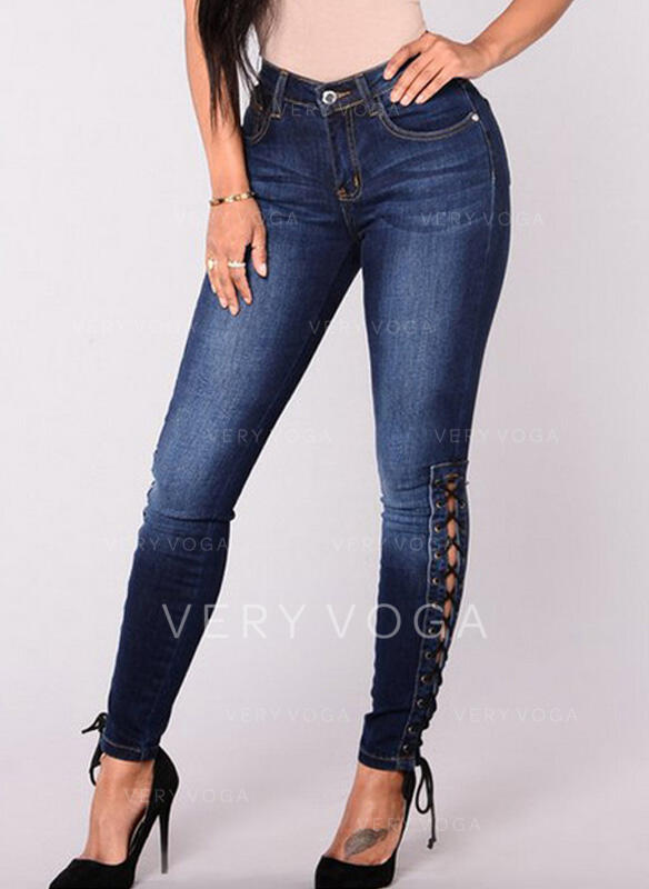 Pockets Plus Size Tassel Long Boho Sexy Denim & Jeans