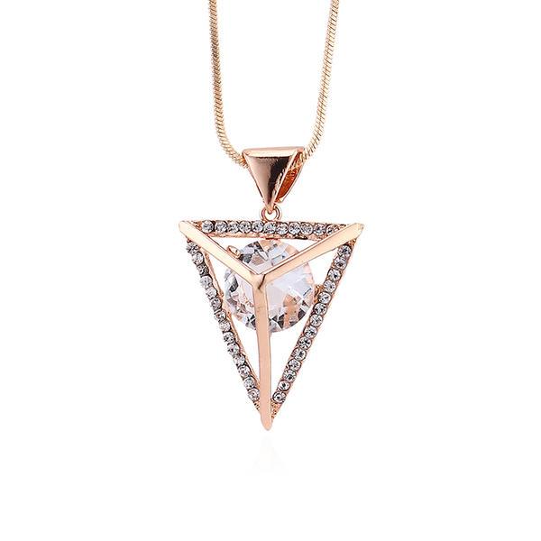 Stylish Rhinestones Copper Glass With Rhinestone