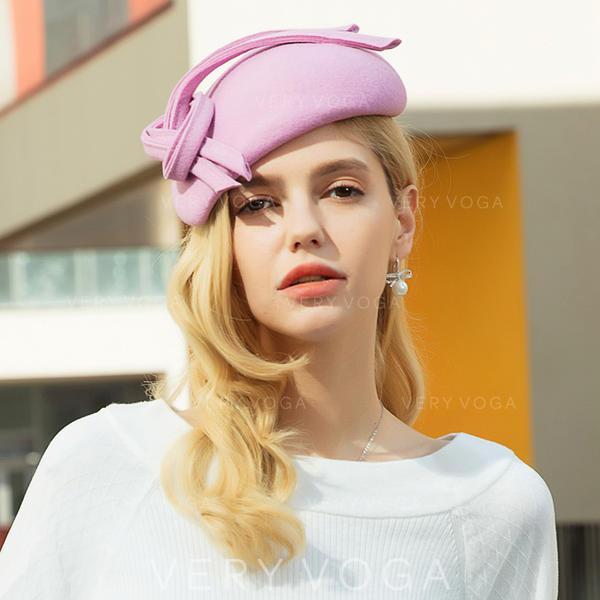 Damen Glamourös/Klassische Art/Nizza/Fantasie Wollen Baskenmütze Hut