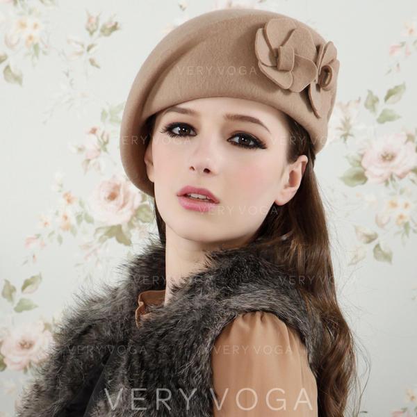 Ladies' Elegant Acrylic/Wool Blend Beret Hats