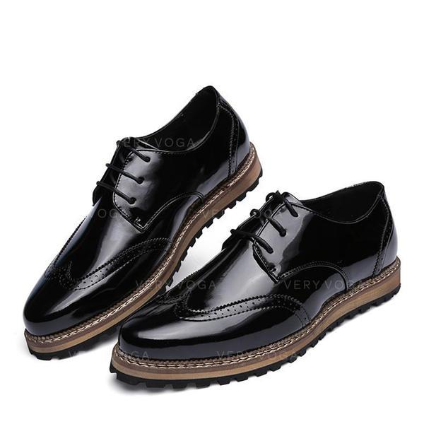 adb4a5b360e87 šněrovací Brogue Společenské boty Lakovaná Kůže Pánské Pánská obuv Oxford