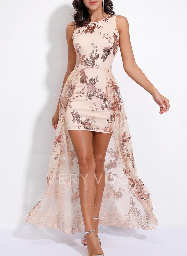 Cekiny Bez rękawów W kształcie litery A Przyjęcie/Elegancki Maxi Sukienki
