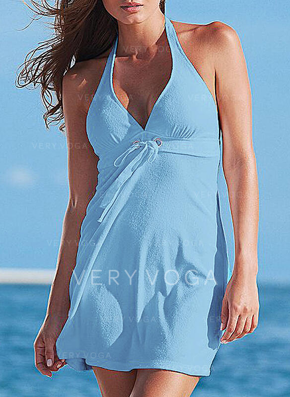 Solid/Backless Sleeveless Sheath Above Knee Sexy/Casual/Vacation Dresses