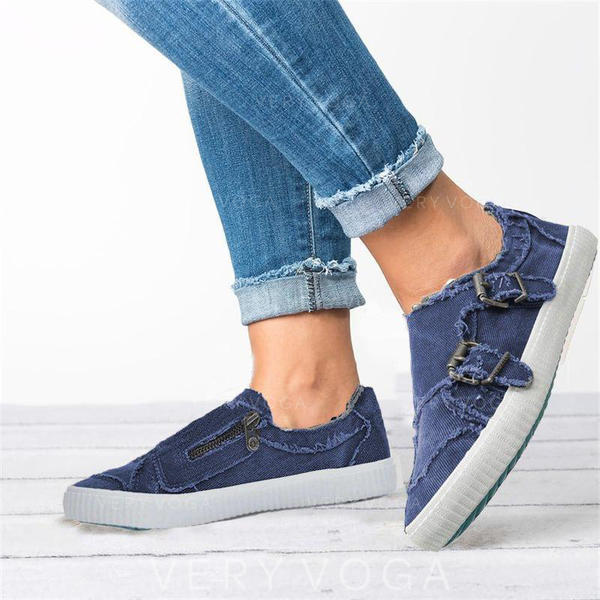 Women's Canvas Casual Outdoor With Buckle Zipper shoes