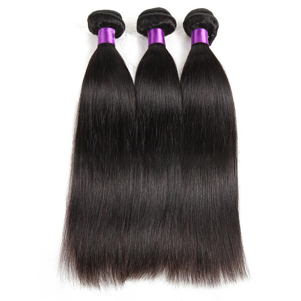4a Straight Human Hair Human Hair Weave Sold In A Single Piece