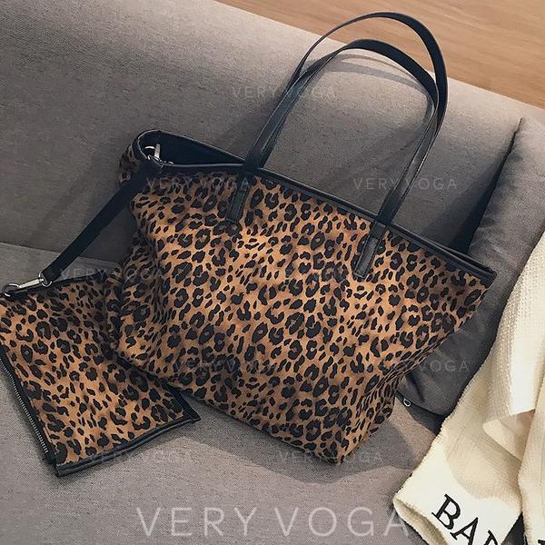 Leopard Canvas Tote Bags/Bag Sets/Wallets & Wristlets