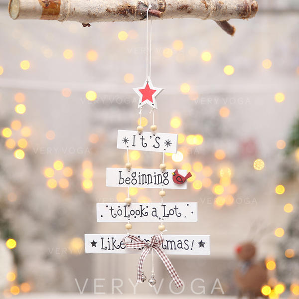 Christmas Merry Christmas Hanging Wooden Tree Hanging Ornaments