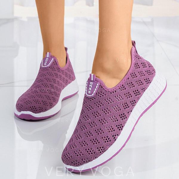 Mulheres Pano Casual Atlético com Aplicação de renda sapatos