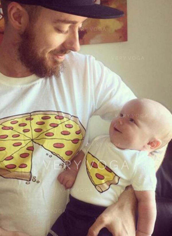 Papa et moi Dessin Animé Inmprimé Correspondant à T-shirts