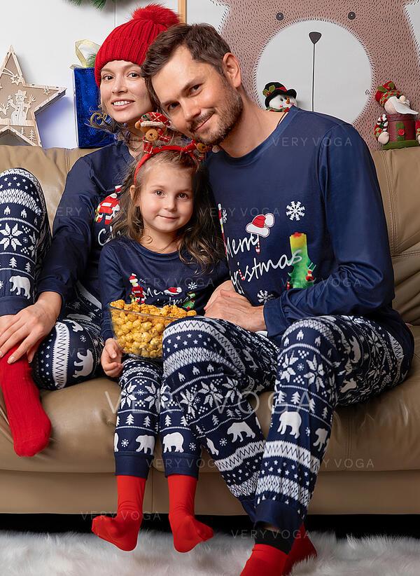 Święty Mikołaj List Wydrukować Rodzinne Dopasowanie Świąteczne piżamy