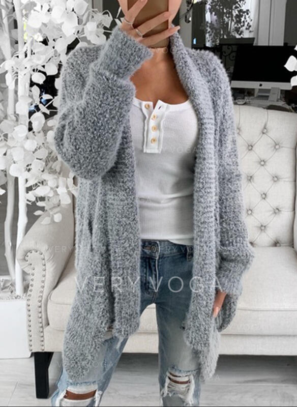 Solid Fickor Casual Cardigan