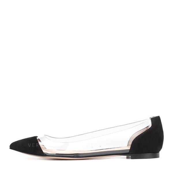 36bc2f112 Women s Leatherette PVC Flat Heel Flats Closed Toe shoes (086175773 ...