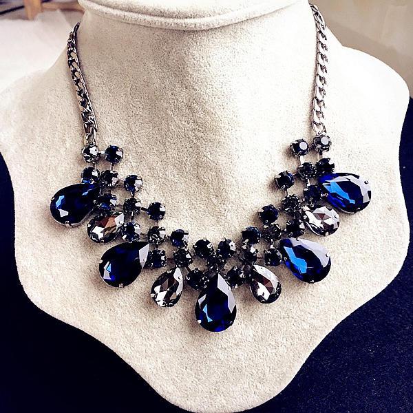 Maravilloso Aleación Diamantes de imitación Señoras' Collar de la manera