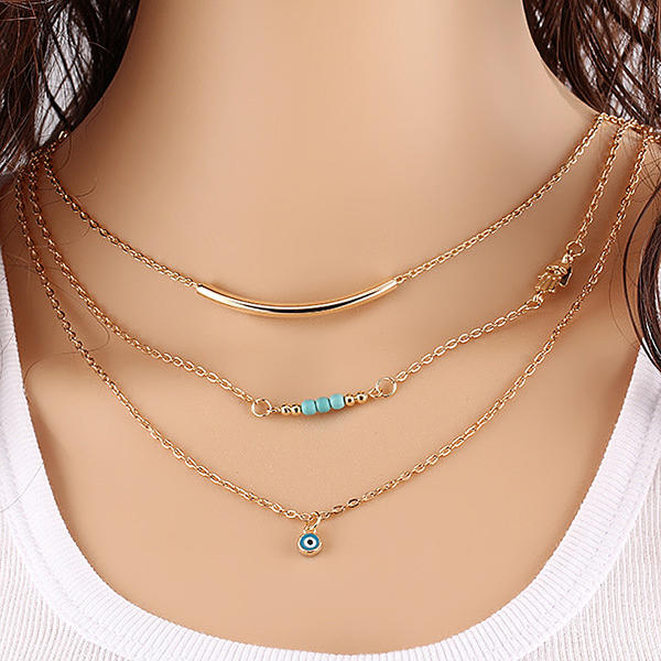 Unique Alloy Ladies' Fashion Necklace