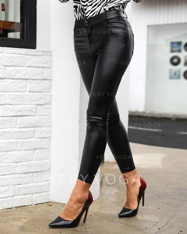 Solide Lang Sexy Lang Broodmager Leggings