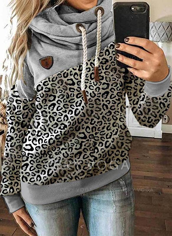leopard Mâneci Lungi Hanorac