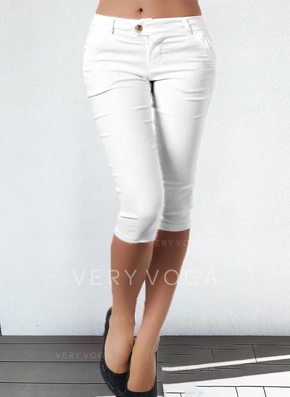 Solid Plus Size Sexy Vintage Pants