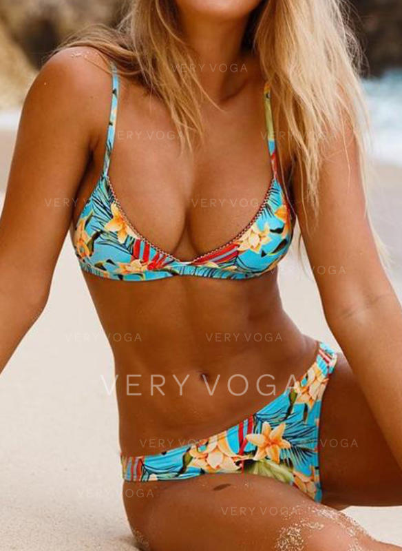 Floral Print Strap Sexy Bikinis Swimsuits