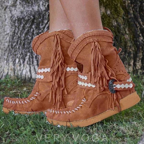 Бокові черевики Мартіновські черевики з Пряжка Кисточки з ниток взуття