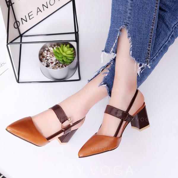 Kvinnor PU Stilettklack Sandaler Pumps med Andra skor
