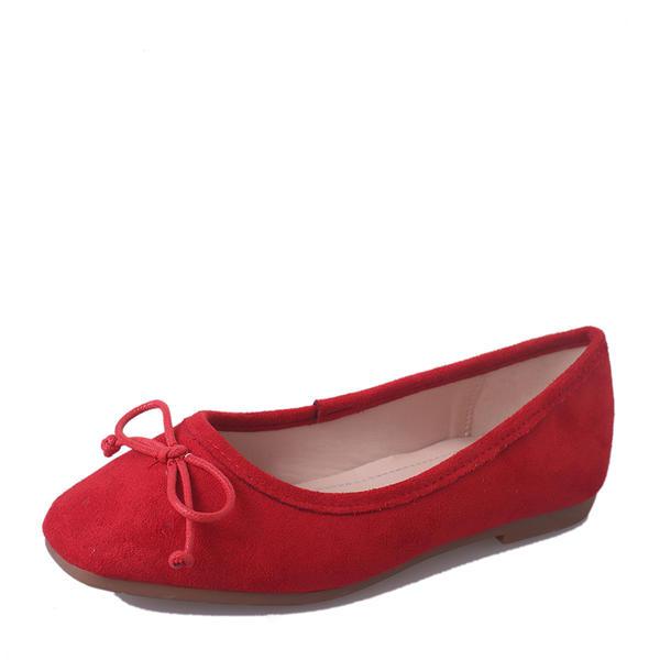 24b5f4dcbbe Dámské Semiš Placatý podpatek Boty Bez Podpatku Uzavřená Špička S Vázanka  obuv