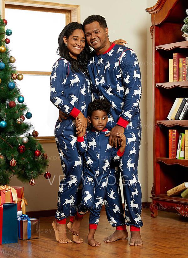 Renna Stampa Famiglia Partita Di Natale Pajamas