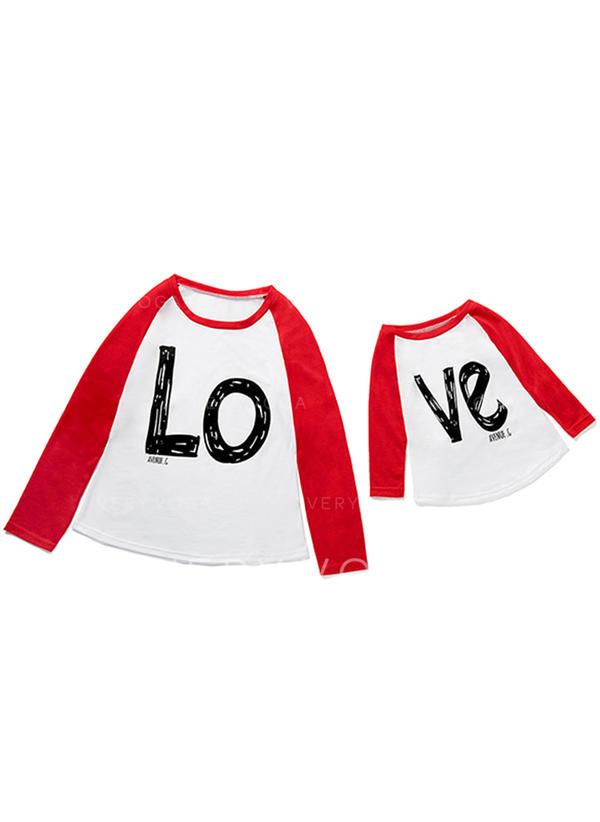 Maman et moi Letter Inmprimé Correspondant à T-shirts