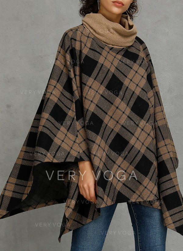 Polyester Plaid Capes