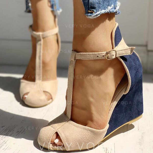 Vrouwen PU Wedge Heel Pumps met Gesp schoenen