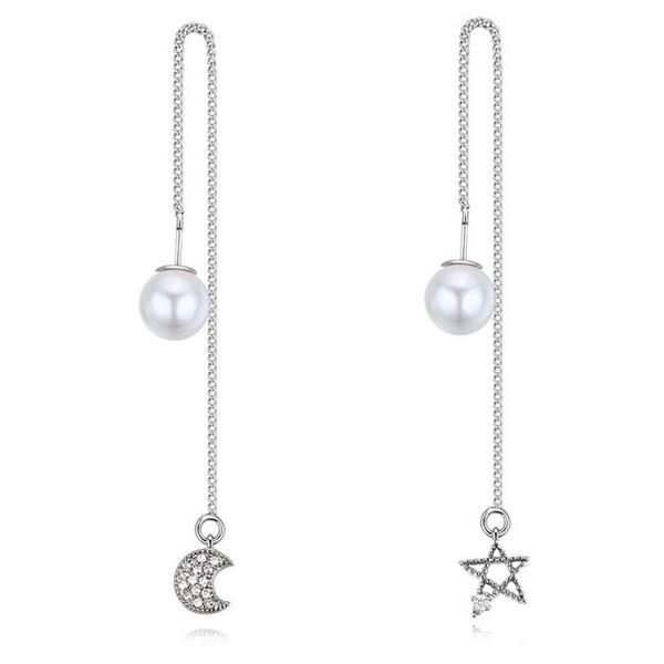 Hermoso Circón con Perlas de imitación Señoras' Pendientes de la manera