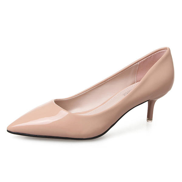 d3574b06f9cc Women s Leatherette Low Heel Pumps Closed Toe shoes (085092802 ...