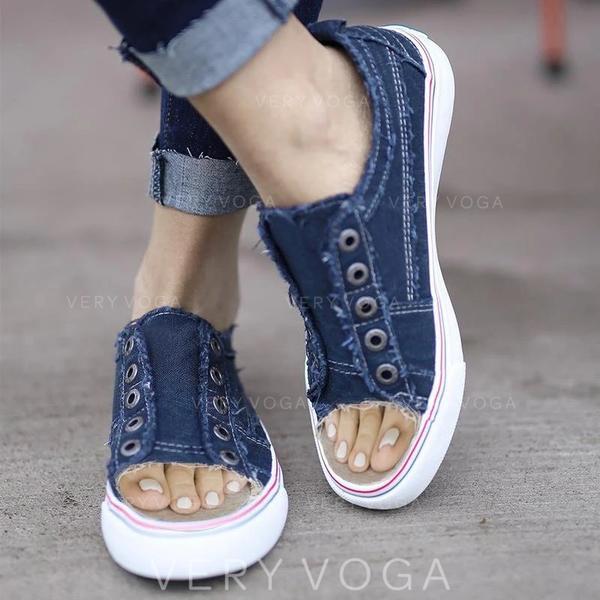 Mulheres Lona Casual Outdoor com Outros sapatos