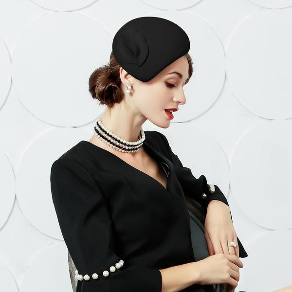 Dames Charmant/Glamour/Style Classique Coton Chapeaux de type fascinator