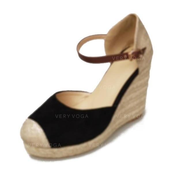Femmes Suède Talon compensé Compensée chaussures