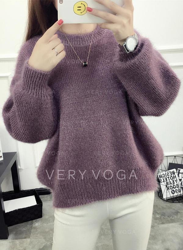 Egyszínű Terített nyak πουλόβερ