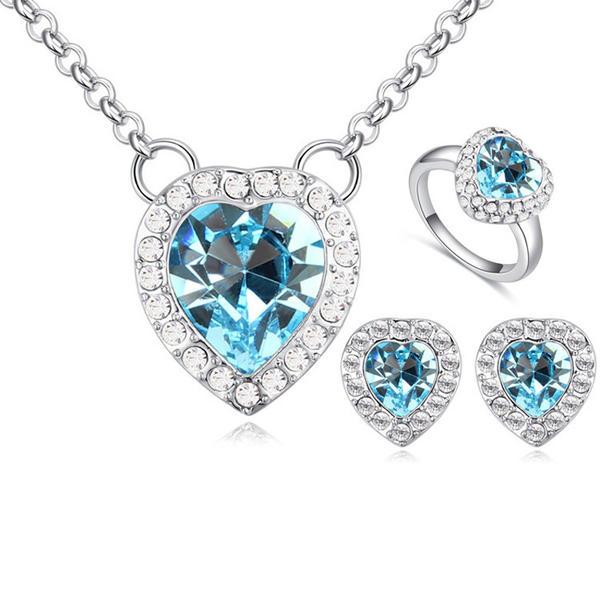 Luminoso Aleación Diamantes de imitación con Rhinestone Señoras' Sistemas de la joyería