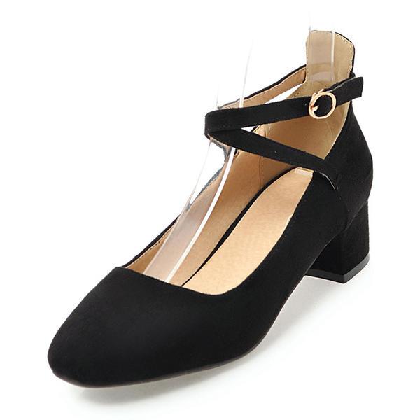 b309389111c De mujer Ante Tacón bajo Cerrados con Hebilla zapatos (085171199 ...
