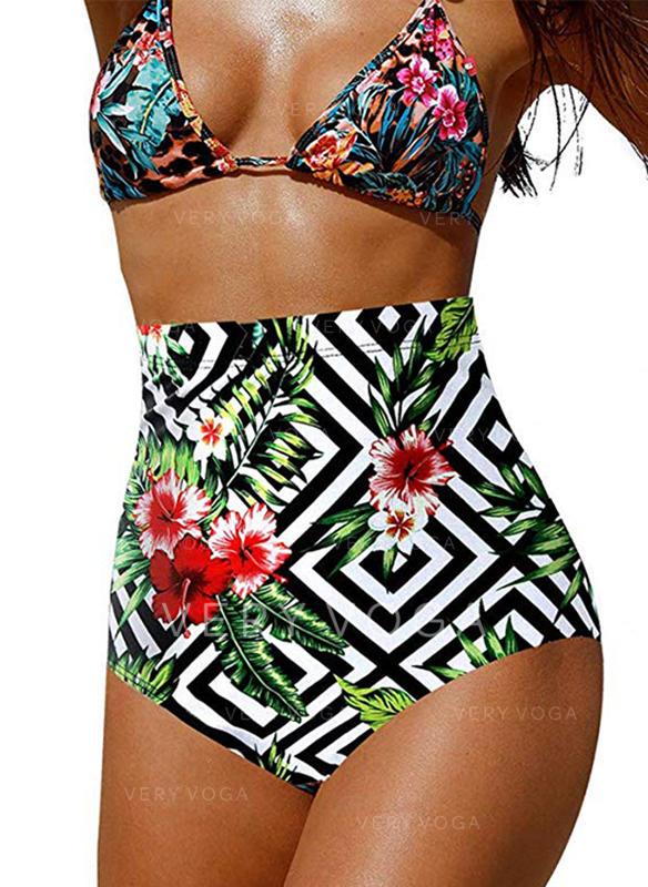 High Waist Print Sexy Colorful Bottoms Swimsuits