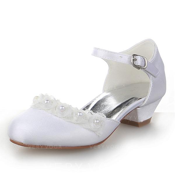 f26067cd4a8 Κλειστά παπούτσια Γοβάκια Κορίτσι λουλουδιών Με Πόρπη Απομιμήσεις Pearl
