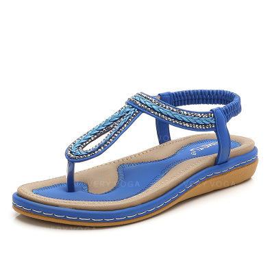 Pentru Femei PU Fară Toc Balerini Şlapi între degete cu Bretea Împletită pantofi