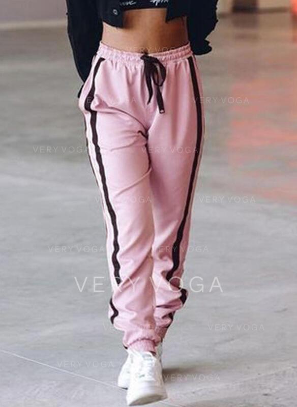 Shirred Kordelzug Lange Lässige Kleidung Sportlich Hosen