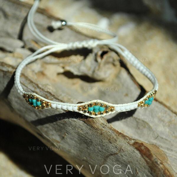 Stylish Resin Basketwork Bracelets