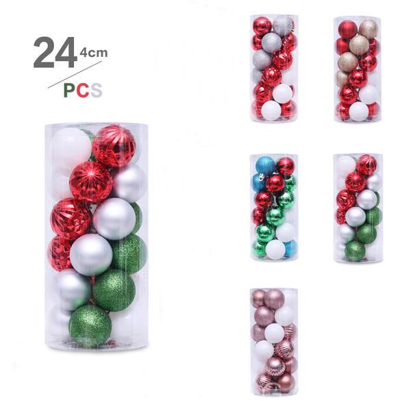 """Feliz Navidad 24 PCS 1.57"""" PVC Decoración navideña Pelota (Juego de 24)"""