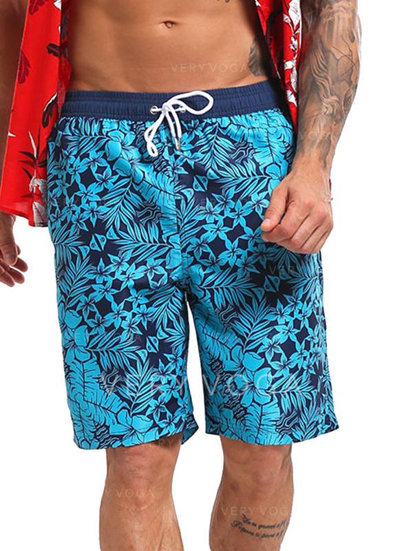 De Los Hombres Forrado Cordón Pantalones cortos