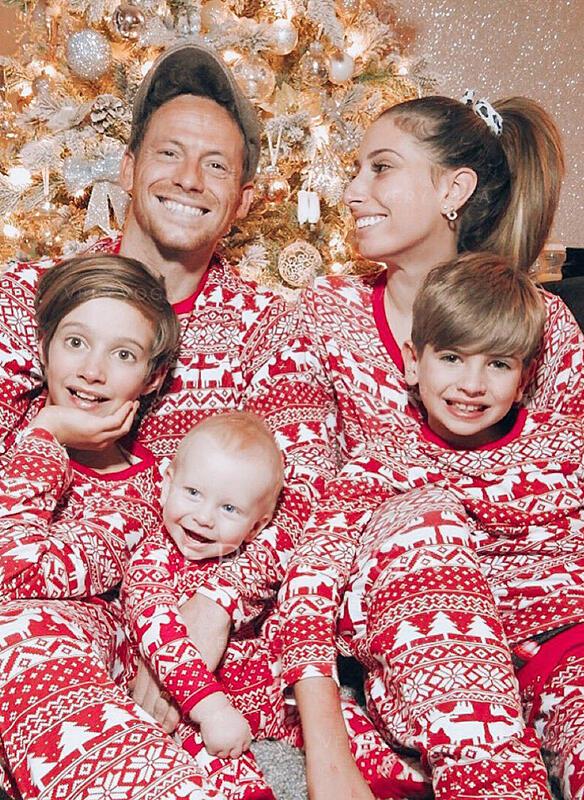 Renifer Wydrukować Rodzinne Dopasowanie Świąteczne piżamy