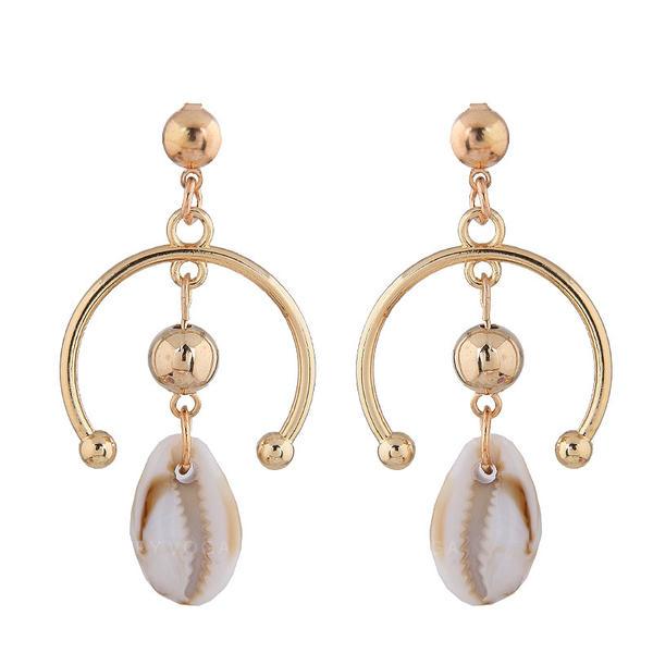 Stylish Classic Shell Alloy Women's Earrings